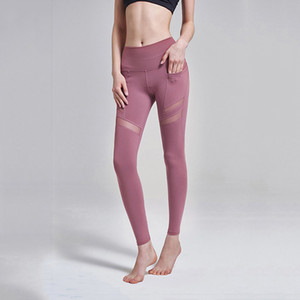 2019 Nuevos pantalones de yoga con leggings de bolsillo para mujeres Suave estiramiento de la cadera para practicar la práctica de yoga Pilates Dancing Casual Wear