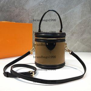 Fashion Bags M43986 Casual Bag Barrel-shaped genuine leather Shoulder Bag Pouch Women Cross Body handbag Free shipping