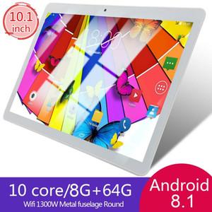 KT107 круглые отверстия планшет 10.1 дюймов большой экран HD Андроид 8.10 версия мода портативный планшет 8 ГБ+64г Белый Белый США Plug автомобиль