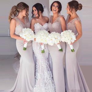 Pure v-cou sirène sirène bridemaids robes 2020 sur mesure printemps l'honneur de femme de chambre longue Undest usd100 robe de demoiselles d'honneur robes de soirée de bal