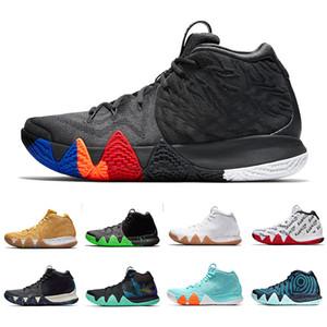 Neue Herbst Irving 4 Basketball-Schuhe für günstigen Verkauf Kyrie Turnschuhe Sport Herren Schuh Wolf Grau Team Red Trainer BasketBall Schuhe Größe 40-46