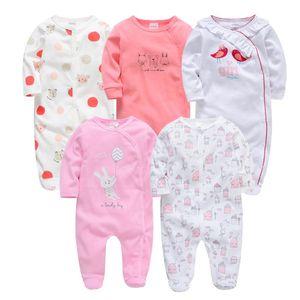Kavkas Baby Girl Roupa De Bebes Newborn Full Sleeve 3m 6m 9m 12m Infant Girl Rompers New Born Clothes Bebek Giyim Jumpsuits