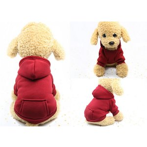 XS-2XL Pet Dog Hoodie Coat Soft Fleece Warm Puppy Clothes Dog Sweatshirt Winter Dog Clothes For Small Dogs Pet Shop Hot Sale New