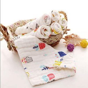 Baby Bibs Infant Muslin Boy Bandanas Newborn Girl Smock Burp Cloth Cotton Gauze Feeding Saliva Towel 8 Layers 14 Designs Optional BT5336