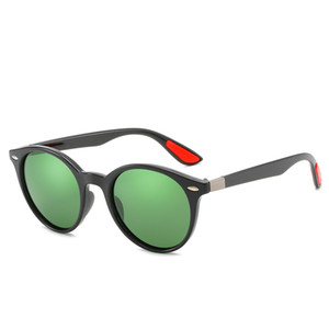 Новые женские дизайнерские поляризованные солнцезащитные очки мужские и женские круглые рамки поляризованные солнцезащитные очки