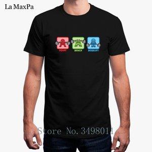 High Quality Tshirt For Men Kawaii Powerlifter Squat Bench Press Deadlift Unisex Men T-Shirt Round Collar Cool Male T Shirt Men
