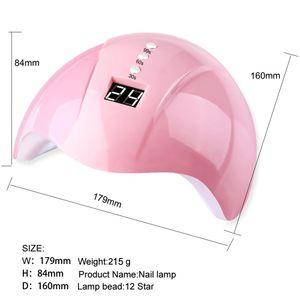36W UV Nail Lamp Manicure LED Nails Dryers Drying Gel Polish Ice Lamps with 12 Pcs Leds 30s 60s 99s Auto Sensor Nail Art Tools