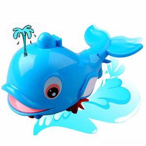 1PC البلاستيك الحوت ألعاب أخرى شكل التدفق حمام الطفل السباحة دولفين طفل الاستحمام لعبة بركة سباحة لطيف الكرتون الحيوان لعب اطفال ورضيع حمام