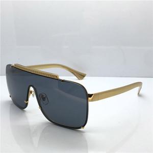 medusa occhiali da sole 2161 metallo sovradimensionato quadrato disegno mens telaio occhiali da sole placcato oro materiale anti-UV400 occhiali con lenti box