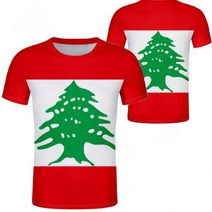 T-shirt LIBANO diy nome personalizzato gratuito numero lbn t-shirt nazione bandiera lb repubblica araba araba libanese stampa foto vestiti