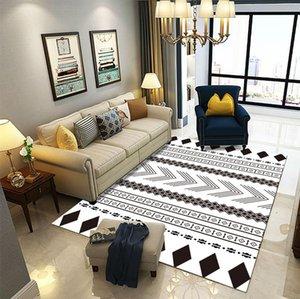 Tapetes piso geométrico Arte Moderna Sala Tapetes Início Nordic cabeceira quarto Blanket Area Rug Grande Sala de Estudo Macio