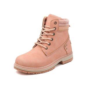 New women fashionsnow martin boot ankle shot for winter triple black chestnut pink womens shoe