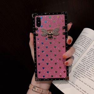Дизайнер телефона чехол для Samsung Note10 Note10p S10 S10p Note9 Note8 S9 S9p Брэнд задняя крышка для Iphone XS MAX XR X / XS 7P / 8P 7/8 Bee Case