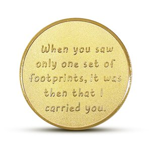 Footprint Family Parent Kids Sea Souvenir Collection Coins Art Gifts Alloy Collectible Tooth Fairy Gold Silver Commemorative