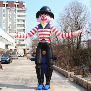 Wearable Inflatable Clown Costume 3.5m Easy To Control Walking Blow Up Clown Puppets For Parade Show