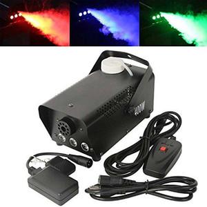 LED RGB меняют цвет 400W водить машины тумана Пульт дистанционного управления 400w водить Smoke Machine Профессиональный Dj Оборудование светотехническое эффекты