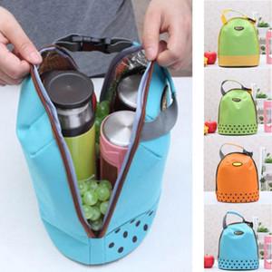 Портативный Cooler Tote Изолированный Canvas Обед Сумка Термические еды для пикника Bento Lunch Bags Болса Termica