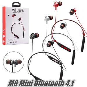 New Waterproof Bluetooth4.1 Wireless Headset Hanging Neck Earplugs Active Noise Reduction Stereo Sound Sports Headphones