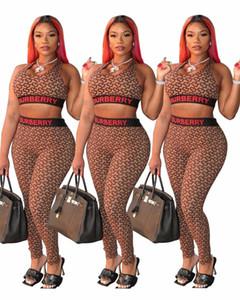Brassière T-shirt de la femme pantsuit des femmes de deux pièces ensemble pull-over + femmes Survêtement concepteur Legging imprimé mode SportSuit klw3389