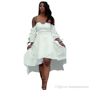 Pure Color Summer Femme Robes Styliste bretelles femmes Robe Sexy Ladies Hilo lambrissé lanterne manches Apparel