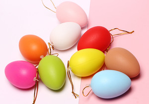 2019 New DIY Hand-painted Suspensibility Graffiti Toys Easter Eggs Mixed Colors Children's Painted Plastic Simulate Eggs