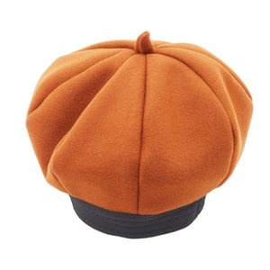 Simple Hats Fashion Baby Corduroy Pumpkin Hat Casual Solid Color Caps High Quality Hats For Baby Bays Girls