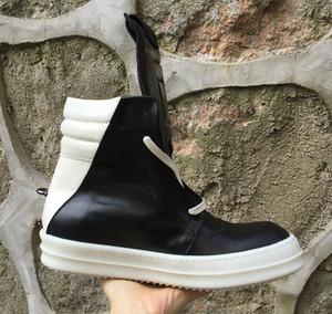 Caliente venta de cuero-uine botas clásicas clavada nuevas botas de calle roca Nostálgico hip hop lista de moda