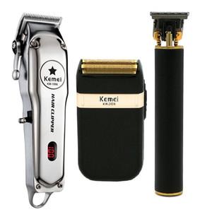 مجموعة انفجار KEMEI كل معدن الفنية الكهربائية قص الشعر قابلة للشحن الشعر المتقلب حلاقة الحلاقة آلة KM-5027 KM-1996 KM-2024