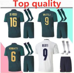 2019 2020 Itália adulto Futebol Jersey kits completos 1920 EURO Itália Insigne Verratti TOTTI BELOTTI 16 kit shirt DE ROSSI futebol com meias