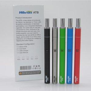 Hibron ATB Full Kit Thick Oil Vaporizer E Cigarette Starter Kits With 400mAh Preheat VV Battery 5 Colors Original Authentic free