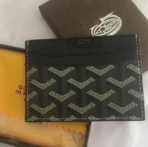Высокое качество luxurys Париж классический стиль известных мужчин женщин известный держатель натуральной кожи гы кредитной карты мини-кошелек