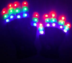 Hot venda Inverno Partido Brilho Partido novidade suprimentos LED Rave Flashing Glove