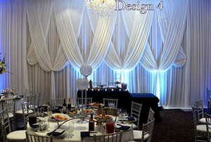 3MX6M lusso Pure White Wedding Backdrop Sipario con tessuto draps per nozze baby shower partito decortaions forniture