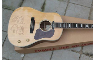 Free Shipping New Arrival Edition Nature Wood Solid Spruce Acoustic Guitar