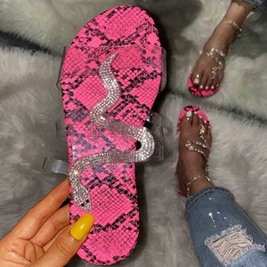 Summer Women Flat Slippers Clear Jelly Slides Transparent Strap Female Open Toe Causal Flip Flops Ladies Beach Womens Shoes