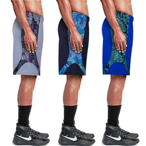 2019 Baloncesto Pantalones cortos con bolsillos de secado rápido transpirable Formación baloncesto hombres de los cortocircuitos de fitness running Pantalones cortos sueltos