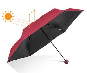 4styles Capsule Umbrella Ultra Luz Mini Folding Umbrella Compact bolso guarda-chuva à prova de vento Chuva Sun guarda-sóis para Mulher FFA3196 Criança
