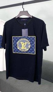 Fishion caliente de lujo de la camiseta para hombre camiseta de las mujeres a estrenar de la manga corta Camisetas Casual hombres del logotipo de la calle Ropa 2040702H bordado verano