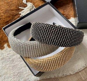 Voller Kristallblingbling-Stirnband-Haar-Bänder für Frauen Dame Shiny Padded-Diamant-Haar-Band-Mode Kopfbedeckung Partei Schmuck Haarschmuck