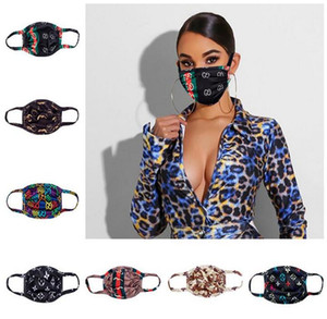 15 Stil Yıkanabilir Yüz Maskesi Lüks Tasarım Maskeler ağız Kül Bisiklet Ağız maskeleri toz geçirmez ultraviyole geçirmez yazdırma Çift Katmanlar