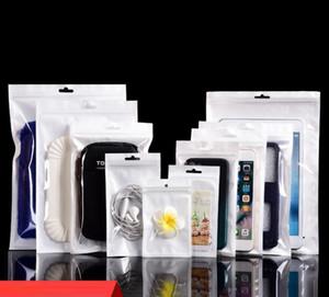 Branco / Clear Válvula Resealable Zipper plástico Retail Packaging Poly Bag, zíper Saco, Comércio, Armazenamento W / Pendure Buraco
