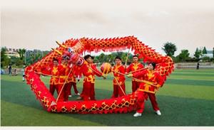 مهرجان قوارب التنين حجم 5 # 7M الطلاب الذهبي التميمة الصينية DRAGON DANCE زي الطفل موكب يوم في الهواء الطلق لعبة الديكور حزب مرحلة عطلة