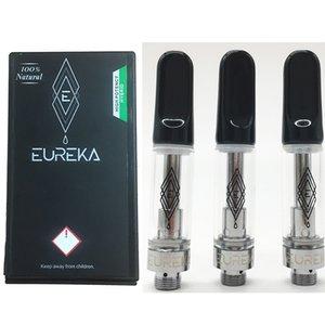 El más reciente Eureka Vape 510 cartuchos de rosca del atomizador Niño Embalaje a prueba la caja 0.8ML 1ML cartucho de vaporizador Vacío de cerámica de la bobina de vapor Carros