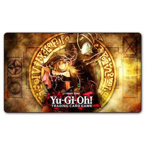 Yugioh Shonen Jump Playmat настольные игры TCG карты играть коврик, пользовательские темный маг девушка Yu-gi-oh дизайн ковер настольный игровой коврик бесплатные сумки Y200421