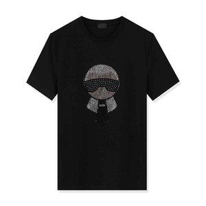 Mens Designer T Shirts Fashion Designer Mens Clothing Summer Casual Streetwear Designer T Shirt Rivet Cotton Blend Crew Neck Short Sleeve