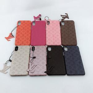 cas de téléphone de concepteur pour iphone 11Pro Max XR XS 7/8, plus PU cuir modèles de mode Téléphone Retour pour Samsung S10 S20 REMARQUE 10P cas