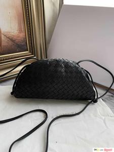 Día del partido de tarde del monedero del embrague del bolso de las mujeres con pliegues 22cm bolso de la almohadilla de cuero genuino bolso de la bolsa de Verano Tan Blanco Verde Negro