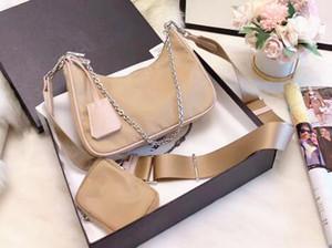 Newset 2 in 1 Borse pacchetto sacchetto di nylon Waistbag petto borsa Partita Tessuto Tote Canvas Handbags Catene Tote paracadute tessuto Borsello in borsa