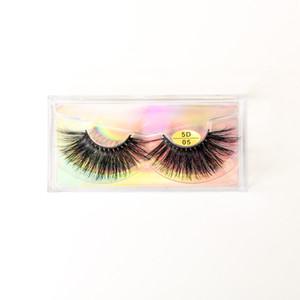 5D Mink Cílios Naturais Longos Cílios Postiços Macios Mink Lashes Macio Dramático cílios Eye Wispy Maquiagem Ferramentas de Extensão de Beleza NOVO GGA2639