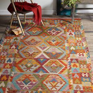 Afghanistan manuel tissage laine géométrie Europe du Nord nord Kilim Nation vent tapis tapis Pad Tapestrygc193kilimyg40